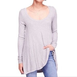 Free People Long Sleeved Ribbed Knit Tee Sm NEW